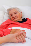 Bejaarde zorg Stock Foto
