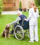 Bejaarde zorg Royalty-vrije Stock Fotografie