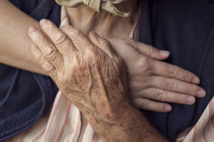 Bejaarde zorg stock foto's