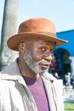 Bejaarde zwarte mens Royalty-vrije Stock Foto's