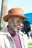 Bejaarde zwarte mens Stock Foto