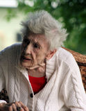 Bejaarden dame-3 Royalty-vrije Stock Afbeeldingen