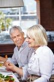 Bejaarden die in verzorging eten Royalty-vrije Stock Afbeelding