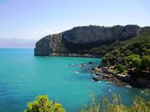 Bejaia beach. Aiguades natural park in bejaia algeria near cap carbon closer look royalty free stock photography