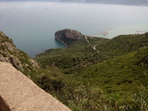 Bejaia Pearl of Algeria. Beautiful view from the high mountains of Bejaia Algeria stock photos