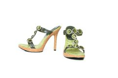 Bejewelled Sandals Stock Images
