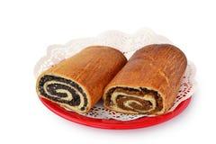 Bejgli, грецкий орех и крены макового семенени стоковая фотография rf
