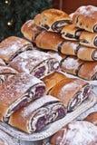 Bejgli - torta húngara tradicional de la Navidad Foto de archivo libre de regalías