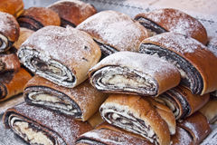 Bejgli - traditional hungarian christmas cake Royalty Free Stock Images