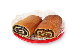 Bejgli, walnut and poppy seed rolls. Royalty Free Stock Photography