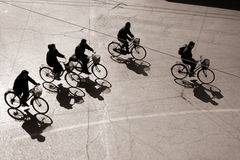 bejing的骑自行车 免版税库存图片