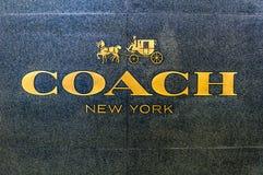 Bejing Китай 23 02 Логотип магазина Нью-Йорка 2019 тренеров в центре роскошных магазинов в сердце города стоковая фотография