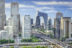 Bejing, China FInancial District royalty free stock photography