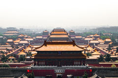 Bejing's Forbidden City from above Stock Photo