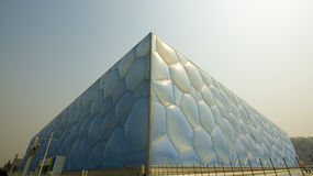 Bejing`s Water Cube. National Aquatics Center for the Beijing 2008 Olympic Games (also known as the Water Cube Stock Photography