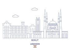 Bejrut miasta linia horyzontu, Liban Obraz Stock