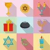 Bekännelsesymbolsuppsättning, lägenhetstil royaltyfri illustrationer