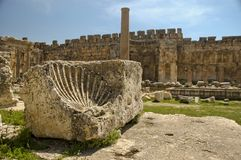 Bekaa Valley, Lebanon. Ruins at Baalbek, Bekaa Valley, Lebanon Royalty Free Stock Images