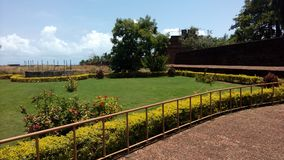 Bekal fort. Bekal fort is the biggest fort in Kerala it is located in northern part of Kerala. The fort spread around 40 acres and surround ed by Arabian sea stock photography