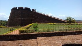 Bekal fort. Bekal fort is the biggest fort in Kerala it is located in northern part of Kerala. The fort spread around 40 acres and surround ed by Arabian sea stock photo