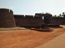 Bekal fort. Is the one of major tourist place of Kerala. It is situated in northern part of Kerala kasaragod district the fort spreader over hundred acres of Stock Image