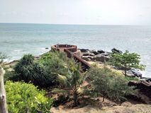 Bekal fort. Bekal fort is the biggest fort in Kerala it is located in northern part of Kerala. The fort spread around 40 acres and surround ed by Arabian sea Royalty Free Stock Photography