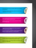 Bekanntmachen der Farbenaufkleber-Kennsatzfamilie vektor abbildung