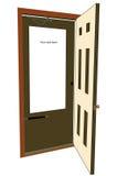 Bekanntmachen der Tür lizenzfreie stockbilder