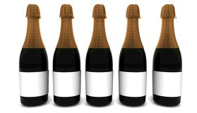 Bekanntmachen des Champagners Stockfoto