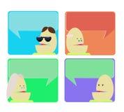 Bekanntmachen des Dialogsprachekastens Lizenzfreie Stockbilder