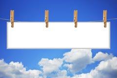 Bekanntmachen im Himmel lizenzfreie stockfotografie