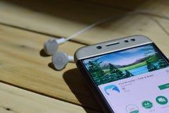 BEKASI, JAVA AD OVEST, INDONESIA 28 GIUGNO 2018: Kiwi Browser dall'applicazione dello sviluppatore di Google sullo schermo di Sma Immagini Stock