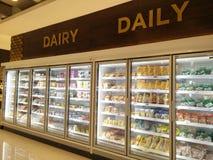 Bekasi, Java del oeste/Indonesia 10 de marzo de 2019: producto lácteo en el supermercado fotografía de archivo libre de regalías