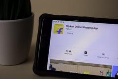 Flipkart dev application on Smartphone screen. Online Shopping is a freeware web. BEKASI, WEST JAVA, INDONESIA. APRIL 5, 2019 : Flipkart dev application on royalty free stock photography