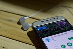 Indonesia Virual Walkie Talkie dev application on Smartphone screen. BEKASI, WEST JAVA, INDONESIA. JULY 04, 2018 : Indonesia Virual Walkie Talkie dev Stock Photos