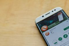 Anti Adware dev application on Smartphone screen. BEKASI, WEST JAVA, INDONESIA. JUNE 3, 2019 : Anti Adware dev application on Smartphone screen. Anti Adware is stock image