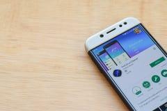 Antivirus Cleaner dev application on Smartphone screen. BEKASI, WEST JAVA, INDONESIA. JUNE 3, 2019 : Antivirus Cleaner dev application on Smartphone screen stock photo