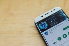 Antivirus Fast & Fast Boost dev application on Smartphone screen. BEKASI, WEST JAVA, INDONESIA. JUNE 3, 2019 : Antivirus Fast & Fast Boost dev application on royalty free stock photos