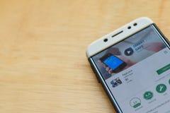 AppLock dev application on Smartphone screen. BEKASI, WEST JAVA, INDONESIA. JUNE 3, 2019 : AppLock dev application on Smartphone screen. AppLock is a freeware royalty free stock photography