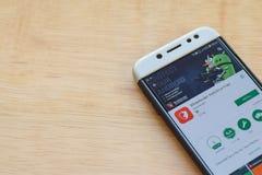 Bitdefender Antivirus Free dev application on Smartphone screen. BEKASI, WEST JAVA, INDONESIA. JUNE 3, 2019 : Bitdefender Antivirus Free dev application on stock photos