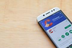 CCleaner dev application on Smartphone screen. BEKASI, WEST JAVA, INDONESIA. JUNE 3, 2019 : CCleaner dev application on Smartphone screen. CCleaner is a stock image