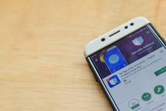DO Security Antivirus - Mobile Protect Guardian dev application on Smartphone screen. BEKASI, WEST JAVA, INDONESIA. JUNE 3, 2019 : DO Security Antivirus - Mobile stock photos