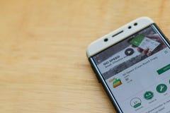 GO Speed Clean Boost Free dev application on Smartphone screen. BEKASI, WEST JAVA, INDONESIA. JUNE 3, 2019 : GO Speed Clean Boost Free dev application on royalty free stock images