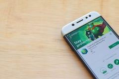 Kaspersky Mobile Antivirus dev application on Smartphone screen. BEKASI, WEST JAVA, INDONESIA. JUNE 3, 2019 : Kaspersky Mobile Antivirus dev application on royalty free stock images