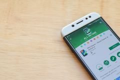 MAX Cleaner - Phone Cleaner & Antivirus dev application on Smartphone screen. BEKASI, WEST JAVA, INDONESIA. JUNE 3, 2019 : MAX Cleaner - Phone Cleaner & stock photography