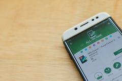 MAX Cleaner - Phone Cleaner & Antivirus dev application on Smartphone screen. BEKASI, WEST JAVA, INDONESIA. JUNE 3, 2019 : MAX Cleaner - Phone Cleaner & royalty free stock images