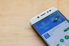 Sophos Mobile Security dev application on Smartphone screen. BEKASI, WEST JAVA, INDONESIA. JUNE 3, 2019 : Sophos Mobile Security dev application on Smartphone stock photos