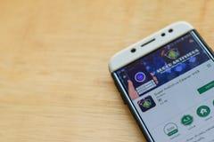 Super Antivirus CLeaner 2018 dev application on Smartphone screen. BEKASI, WEST JAVA, INDONESIA. JUNE 3, 2019 : Super Antivirus CLeaner 2018 dev application on royalty free stock photo