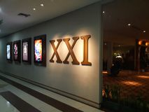 XXI cinema inside a shopping mall. 21 Cinemas is the second largest cinema chain in Indonesia. BEKASI, WEST JAVA, INDONESIA. JUNE 15, 2019: Unrecognize people royalty free stock images