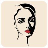 Bekehrter von ROHEM für bessere Qualität Modeschönheitsgesicht tinte Lizenzfreie Stockfotos